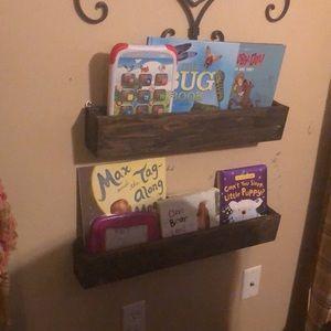 Custom made book box shelves